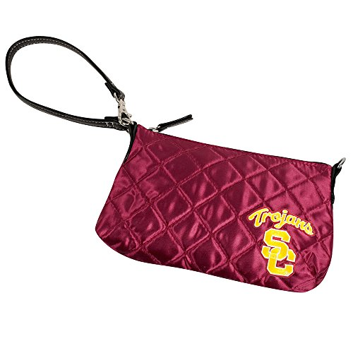 NCAA USC Trojans Quilted Wristlet, Dark Red