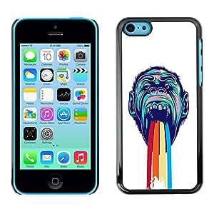 LASTONE PHONE CASE / Diseño de Delgado Duro PC / Aluminio Caso Carcasa Funda para Apple Iphone 5C / Rainbow Puke Gorilla