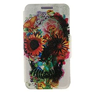 LHY Kinston Flower Decorated Skull Coloured Drawing Pattern PU Leather Full Body Case with Stand for Samsung Galaxy S3 I9300