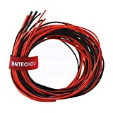 BNTECHGO 14 16 18 20 22 Gauge Silicone Rubber Wire 50ft 5ft Red and 5ft Black 14AWG 16AWG 18AWG 20AWG and 22AWG Soft Flexible 600V 200 deg C High Resistant Silicone Wire Tinned Copper Conductor Wire