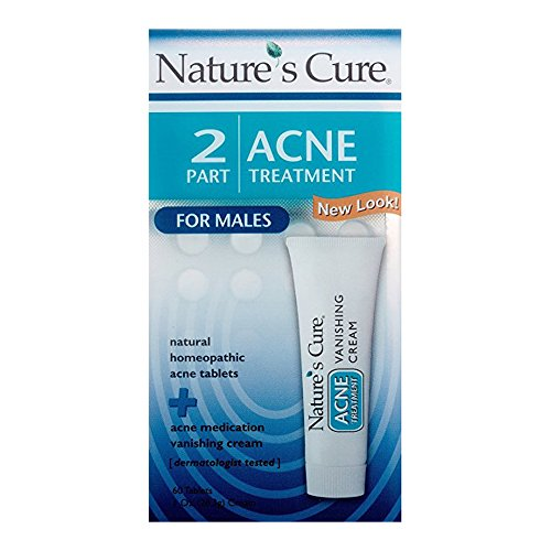 Nature's Cure 2 Part Acne Treatment for Females 60 tablets 1 oz Cream (Pack of 5)