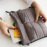 Chris-Wang Shakeproof Nylon Zipper Gadget Pouch/Bag in Bag/Handbag Travel Insert Storage Organizer Protective for 9.7'' iPad Pro Apple iPad Air 2/iPad 4, 3, 2/Tablets(Gray)