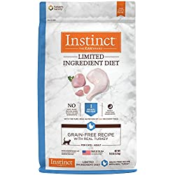 Instinct Limited Ingredient Diet Grain Free Recipe with Real Turkey Natural Dry Cat Food by Nature's Variety, 11 lb. Bag