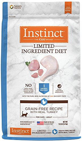 Instinct Limited Ingredient Diet Grain Free Recipe with Real Turkey Natural Dry Cat Food by Nature's Variety, 11 lb. (Real Turkey)