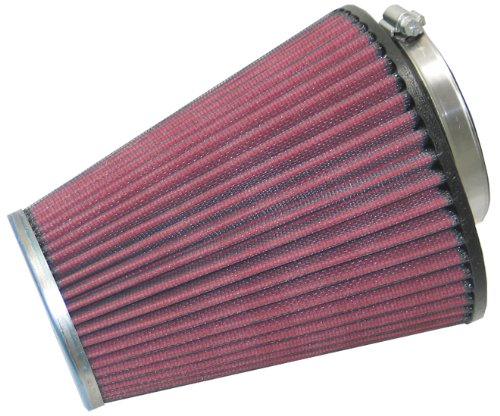 K&N RC-1586 Universal Clamp-On Air Filter: Round Tapered; 2.688 in (68 mm) Flange ID; 6.625 in (168 mm) Height; 5.75 in (146 mm) Base; 3.5 in (89 mm) Top