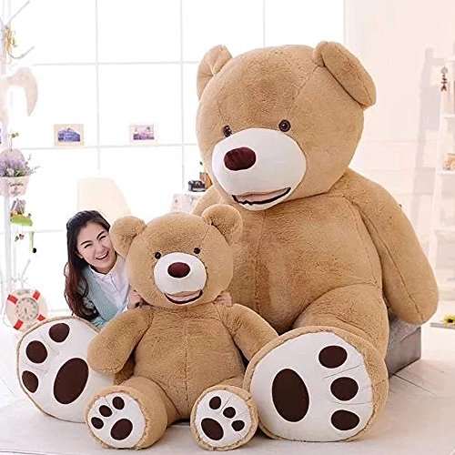 Stuffed Teddy Bears With Big Footprints Light Brown 1m39