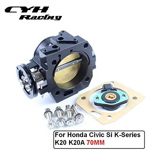 70MM Aluminum Intake Manifold Throttle Body TPS For Honda Civic Si K-Series K20 K20A Engine Acura RSX (Best K Series Intake Manifold)
