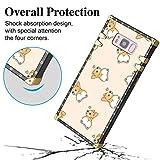 Case for Samsung Galaxy S8, Metal Decoration Square Case Soft TPU Protective Little Corgi