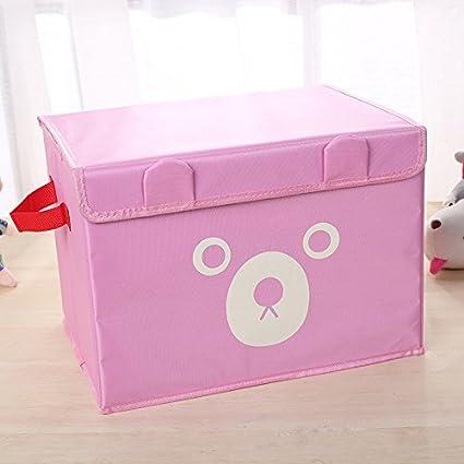 DKE/&YMQ Kinder Spielzeug Aufbewahrungsbox Oxford Tuch Aufbewahrungbox Spielzeug Kleidung Aufbewahrungsbox Cartoon B/är Druck Quilt AufbewahrungsboxCm Blau
