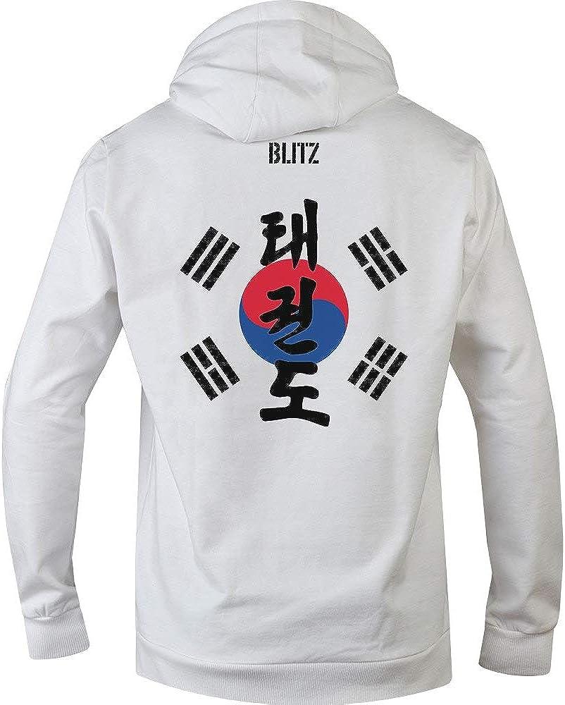 Blitz Herren Taekwondo Training Kapuzenpullover Blau