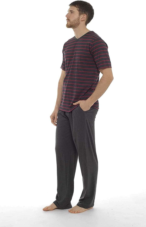 Insignia Pigiama da Uomo Set Top Manica Corta /& Lungo Pantaloni Pantaloni Estate 1 o 3 Confezione