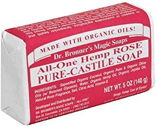 product image for Dr. Bronner's Magic Soaps Pure-Castile Soap, All-One Hemp Rose, 5-Ounce Bars (Pack of 6) Color: Rose Model: (Newborn, Child, Infant)