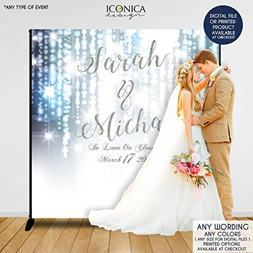 Wedding Photo Booth Backdrop Custom Step And Repeat Engagement Party Banner