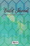 "Bullet Journal: 2017 Journal Notebook,Dot grid journal, 122 pages 5.5""x8.5"" | Chevron Blue"