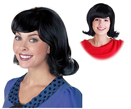 60s Black Flip Jackie Kennedy Wig Linda Wig