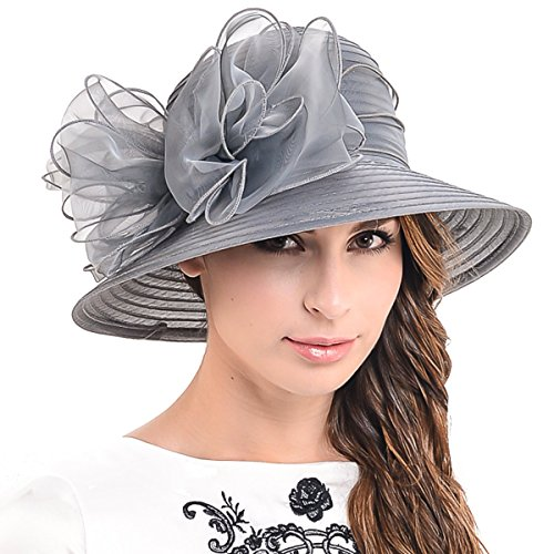 HISSHE Kentucky Derby Bowler Church Cloche Hat Organza for sale  Delivered anywhere in Canada