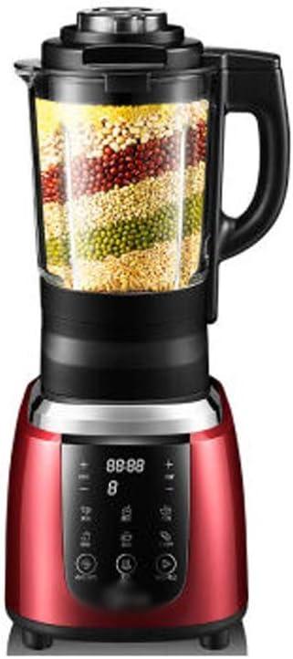 NEMWGSKPD Pared quebrada inteligente multifuncional Exprimidor de leche de soja de la máquina Licuadora calentable Gachas sopa Cocinar Máquina Roja: Amazon.es: Hogar