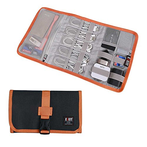 Travel Organizer, BUBM Cable Bag/USB Drive Shuttle Case/Electronics Accessory Organizer-Black