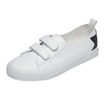 ZODOF Zapatos de Lona Planos de Moda de Primavera Verano para Mujeres Zapatos de Mesa Blancos Zapatos Casuales: Amazon.es: Ropa y accesorios