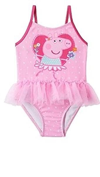 4ae3b657c5 Peppa Pig One Piece Pink Tutu Swimsuit for Little Girls 2T: Amazon ...