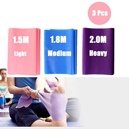 DoGeek Resistance Band, 3pcs Bandes de Résistance élastique Fitness Ballet Bande  Elastique pour Musculation Pilates Yoga Squat Sport pour Homme Femme (3 ... 394ebbcfde7