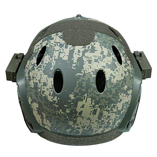DECHO-C Casque Rapide d'Airsoft avec Le Masque de Masque pour l'armée Militaire WarGame Moto Faisant du vélo la Chasse 3