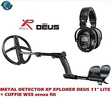 """DETECTOR DE METALES XP XPLORER DEUS 11"""" LITE + AURICULARES WS5 inalámbrico"""