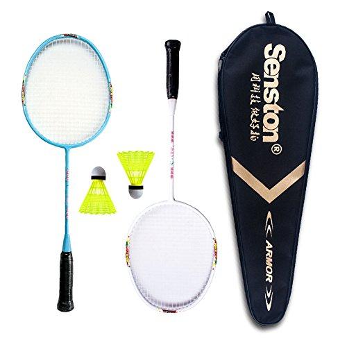 Senston Graphite Mini Badminton Set Junior Badminton Racket Kit Outdoor Sport Game Set,Gifts for Kids-3 Choices