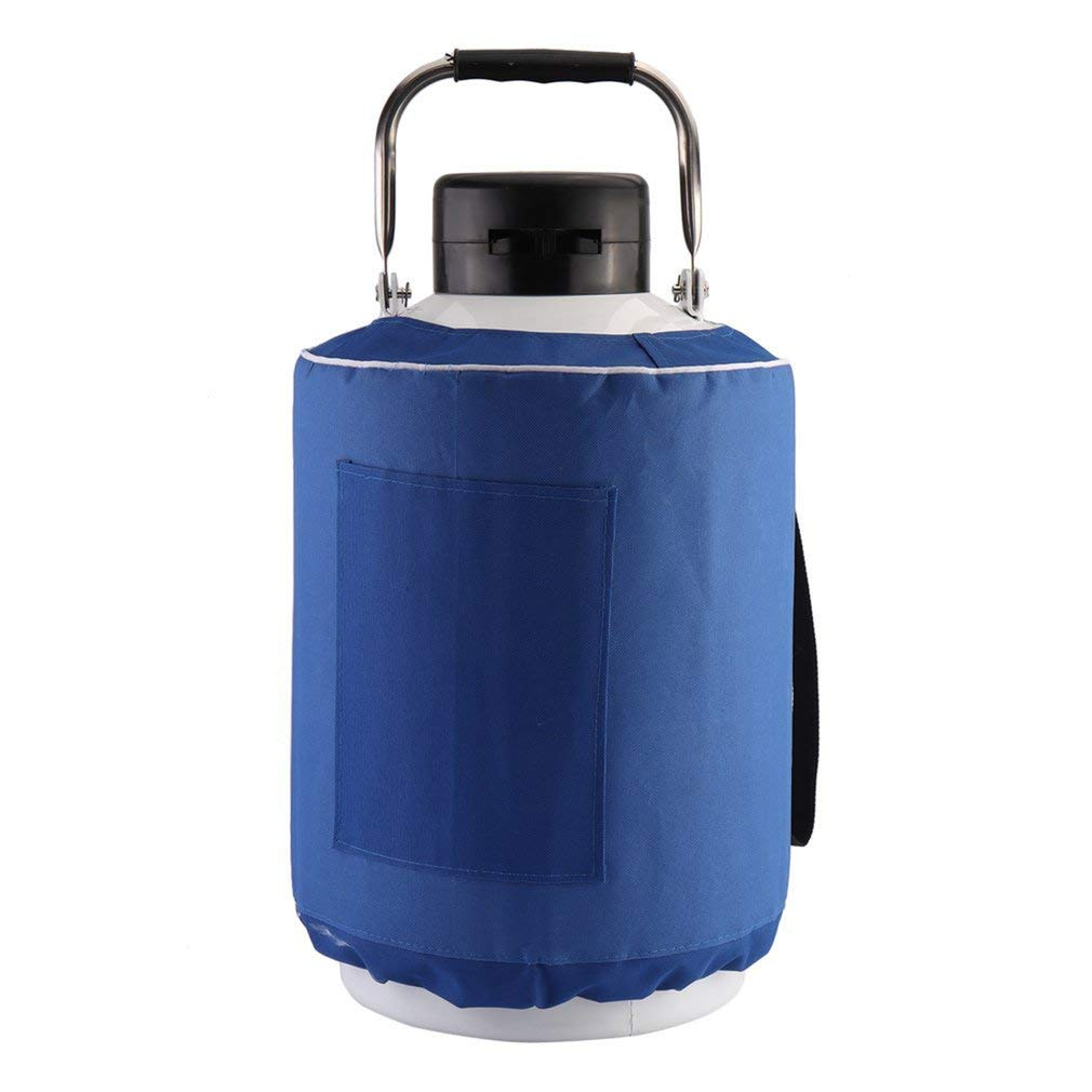 Liquid Nitrogen Container, Aluminum Alloy Liquid Nitrogen Tank Cryogenic Container and Carry Bag,stored for a Long Biological specimens and Save Animals (20 L)