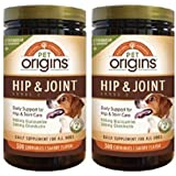Pet Origins Hip & Joint Level 2 Chewable Tablets 300 Count 2 - Pack by Pet