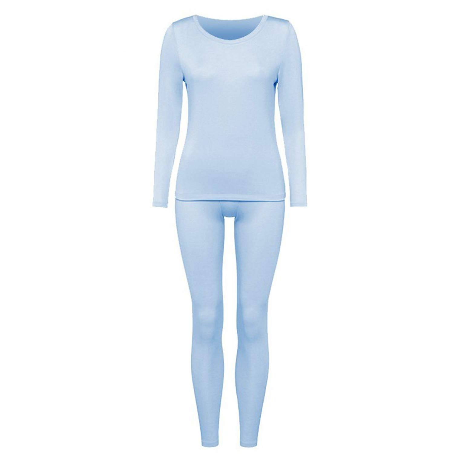 Thermal Underwear Cotton Long Johns Set Womens Winter Thermo ...