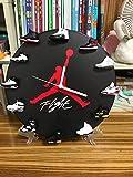 Ptesly Air Jordan Wall Clock with 3D Mini Retro