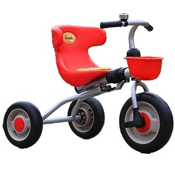 DorisAA Bicicleta de Equilibrio para niños Triciclo para niños Cochecito Trike Pedal de 3 Ruedas Bicicleta