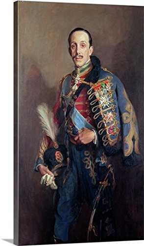 Portrait of King Alfonso XIII of Spain (1886-1941), 1927 (oil on canvas) Gallery-Wrapped Canvas by greatBIGcanvas