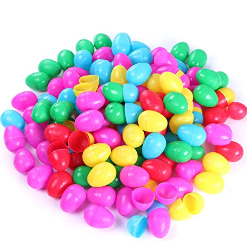 NEWBEA 144 Pcs Plastic Easter Eggs Assortment-2.36