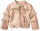 Urban Republic Baby Girls Faux PU Jacket, Rose Smoke 1, 24M