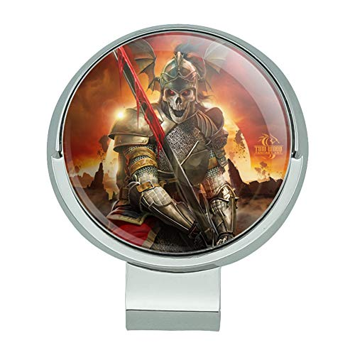 Graphics and More Undead Skeleton Knight Warrior Fantasy Golf Hat Clip with Magnetic Ball Marker