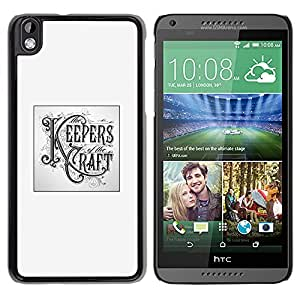 GOODTHINGS Funda Imagen Diseño Carcasa Tapa Trasera Negro Cover Skin Case para HTC DESIRE 816 - guardianes arte artesanía cartel bricolaje