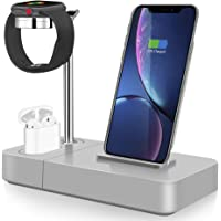 TGHUNAG 3-in-1 Wireless Charging Station (Silver)