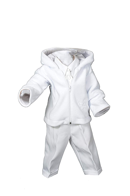 Wei/ß Milosz 5tlg Taufanzug Baby Junge Kinder Hochzeit Anz/üge Festanzug