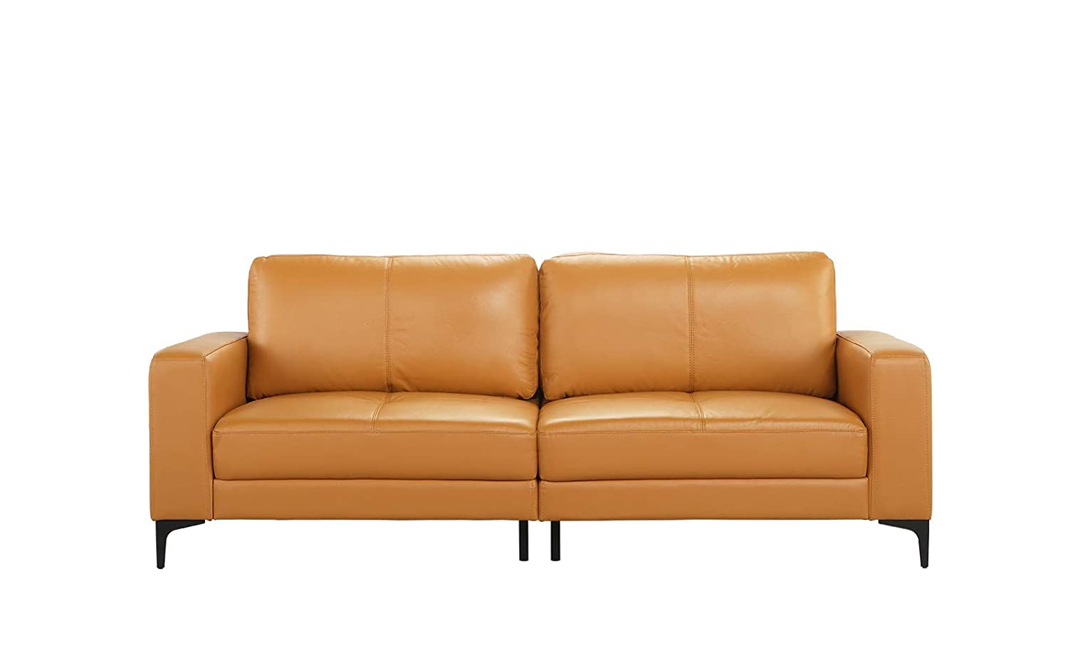 Amazon.com: Mid Century Modern Upholstered Leather Sofa ...