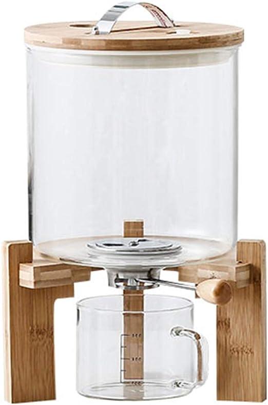 AP.DISHU Contenedor de Almacenamiento de arroz, Cereal de almacenaje, 7.5KG Cristal del Grano de Cristal del envase y 500ML Taza de medición,5L: Amazon.es: Hogar