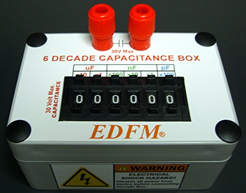 EDFM 6 DECADE CAPACITANCE BOX