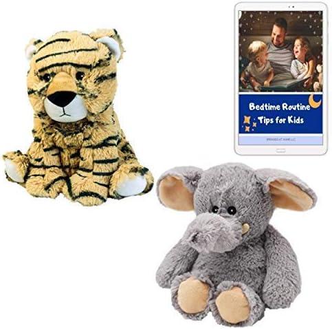 Warmies - Peluche perfumado de tigre y elefante para microondas ...