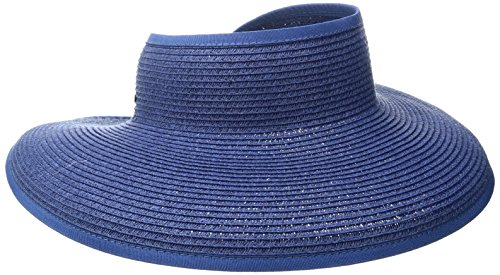 San Diego Hat Company Womens Ultrabraid Large Brim Visor  Royal  Os