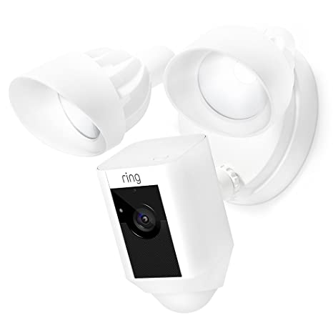 Certified Refurbished Ring Floodlight Camera Motion Activated Hd Security Cam Two Way Talk And Siren Alarm, White,  Works With Alexa by Ring