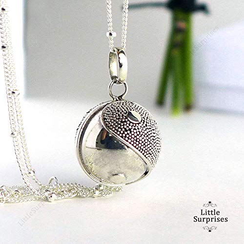 16mm Yin and Yang Sterling Silver Sound Harmony Ball Pendant 30