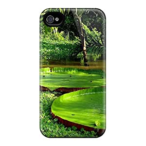 For Iphone 4/4s Phone Cases Covers(giant Lily Pads)