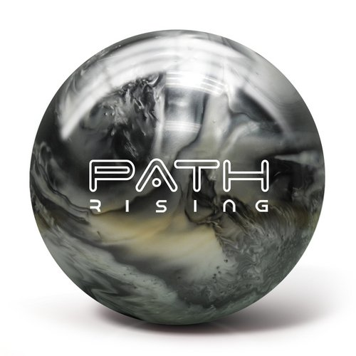 Pyramid Path Rising Pearl Bowling Ball (Black/Silver, 15lb)