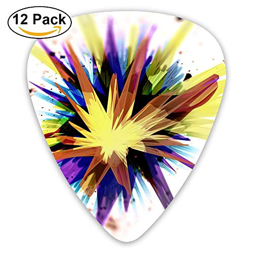 12-pack Fashion Classic Electric Guitar Picks Plectrums Color Boom Instrument Standard Bass Guitarist